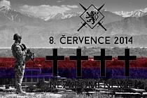 Smuteční foto za padlé české vojáky v Afghánistánu.