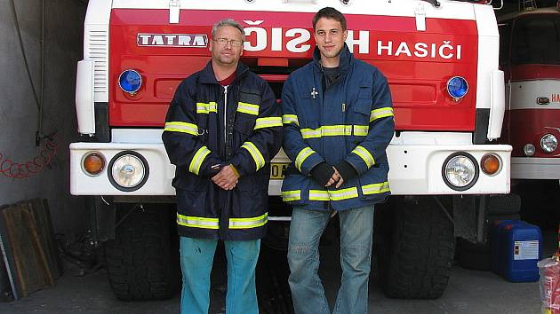 Dobrovolní hasiči z Braňan.