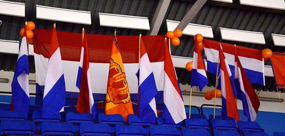 Na tribuně byli nepřehlédnutelní rodiče, kteří fandí nizozemskému výběru Talent Team.