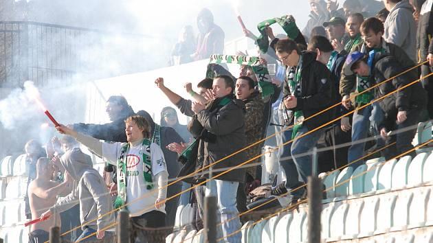 Fanoušci FK Baník Most.