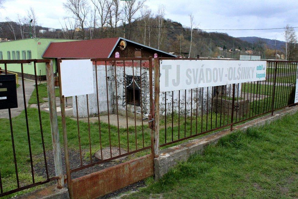Bunkr ve fotbalovém areálu TJ Svádov - Olšinky.