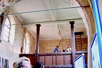 Obyvatelé Mostecka mohli spatřit interiér kostela svatého Jakuba, který je jinak kvůli opravám uzavřen.