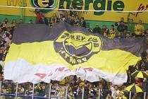 Přes mohutnou podporu fanoušků Litvínov prohrál v prvním zápase play-off s hokejisty Karlových Varů.