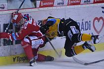 Litvínovští hokejisté v domácím zápase s Třincem.