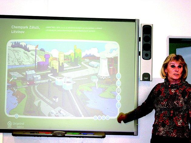 Interaktivní mapa Chemparku v Záluží.