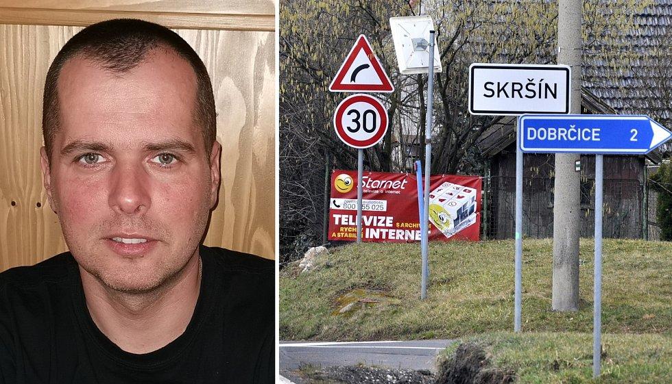 Starosta Skršína David Suchánek.