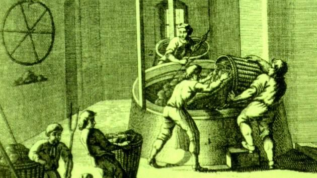 Barvírna sukna v Litvínovské manufaktuře v 18. století. Tehdy byl hlad po dělnících, výroba se rychle rozvíjela a později umožnila industrializaci celého okresu.