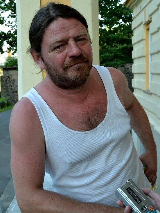 Leoš Noha při krátkém rozhovoru pro Mostecký deník.