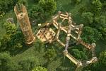Vizualizace 3D bludiště pro park Šibeník v Mostě.