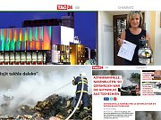Reakce na velký požár skládky na Mostecku