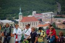 Výhled na Most z hradu Hněvín.