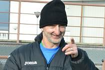 Pavel Medynský na svém prvním tréninku s Baníkem.