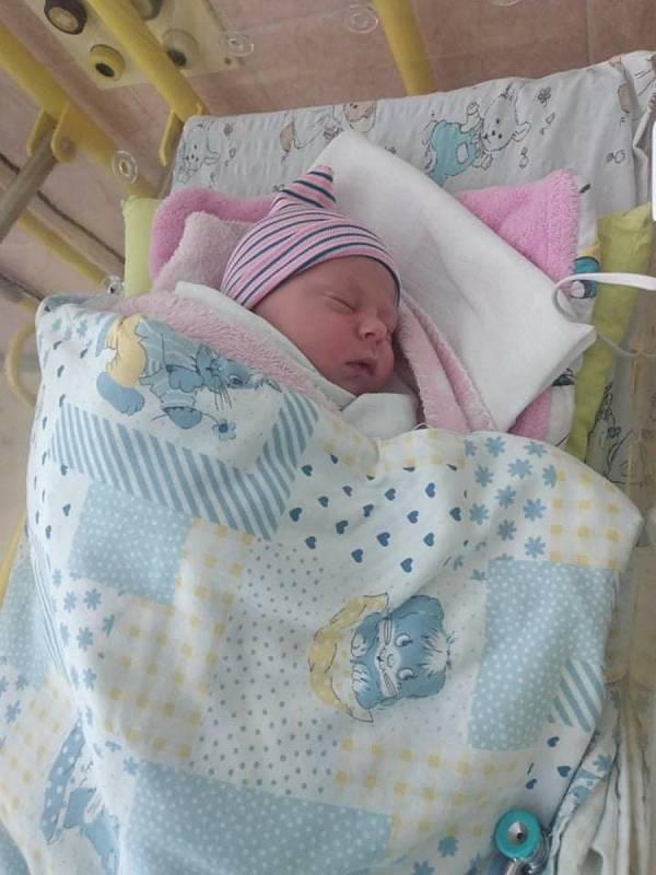 Adriana Brisudová se narodila mamince Elišce Hruškové z Chožova 12. června. Měřila 49 cm a vážila 3,21 kilogramu.
