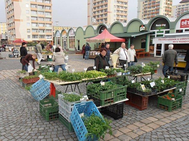 Sobotní trh v Mostě.