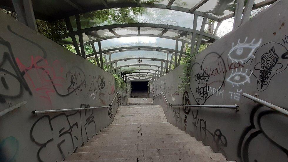 Mostecká Souš, podchod