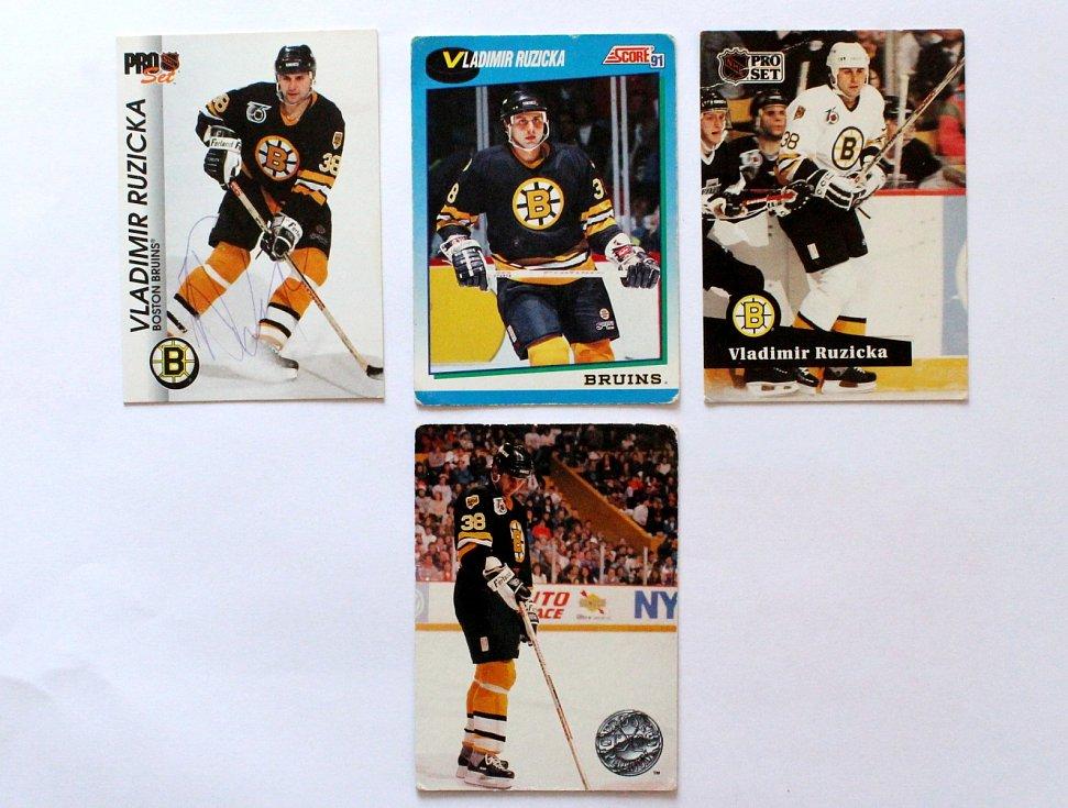 Sportovní kartičky se vrací. Vyráběly se, stále vyrábí a sbírají i u nás. Vladimír Růžička na kartičkách NHL.