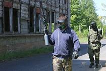 Paintball u Komořan.