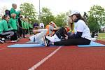 Atletický stadion v Chomutově a krajské finále Sazka olympijského víceboje.