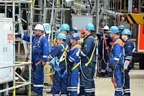 Oprava etylenové jednotky v Chemparku Záluží.