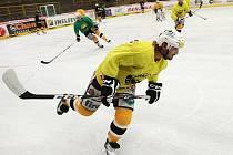 Litvínovští hokejisté trénují na ledě.