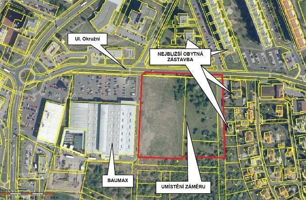 Na tomto místě vMostě má stát Kaufland, probíhá zjišťovací řízení kvůli EIA.