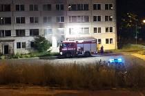 Požáry ve vybydlených panelových domech v Litvínově