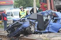 VW Golf, v němž zahynula řidička.