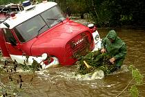 Povodeň v Hoře Svaté Kateřiny. Srpen 2002.
