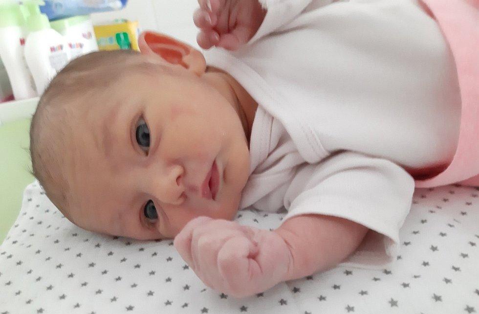 Kateřina Hrodková se narodila mamince Kateřině Šenkýřové z Mostu 19. února v 9.14 hodin. Vážila 2,97 kilogramu.