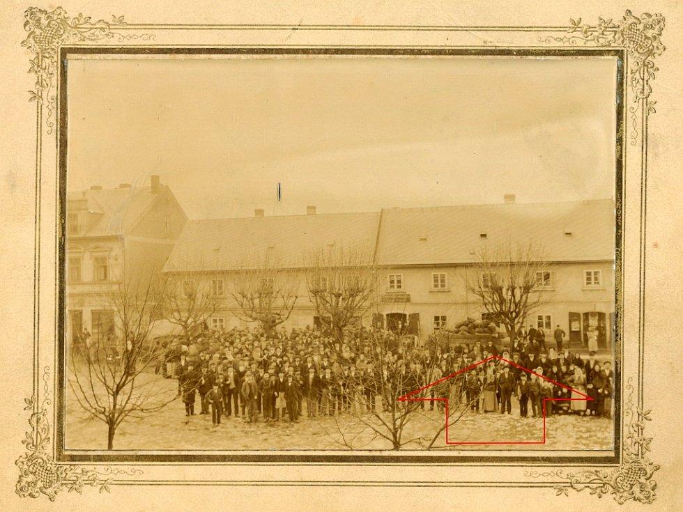 Rodný dům Schlesingera před rokem 1918