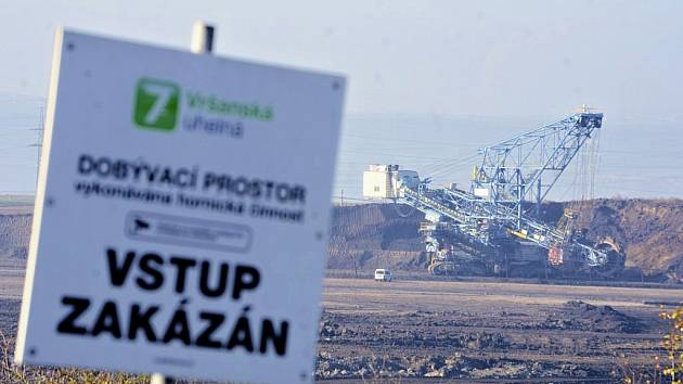 Důl Vršany na Mostecku. Ilustrační foto