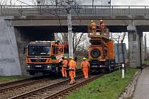 Práce na rekonstrukci tramvajové trati byly zahájeny.