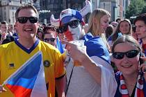 Na náměstí se bude určitě promítat utkání Česka se Švédskem.