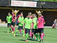 Přípravný duel FK Baník Most (v zeleném) versus FC Chomutov.