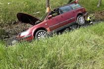Dopravní nehoda v Mostě.