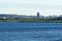 Město Most pohledem přes jezero Most