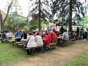 V parku v litvínovské čtvrti Chudeřín se konal čtvrtý ročník Polívkové olympiády.