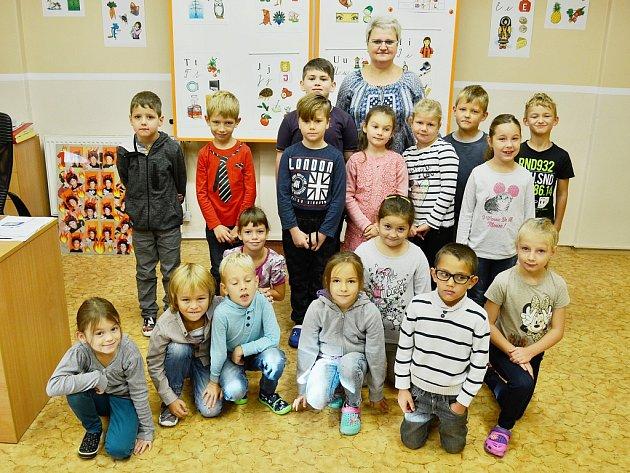 První třída Základní školy Horní Jiřetín spaní učitelkou Markétou Šnorovou.