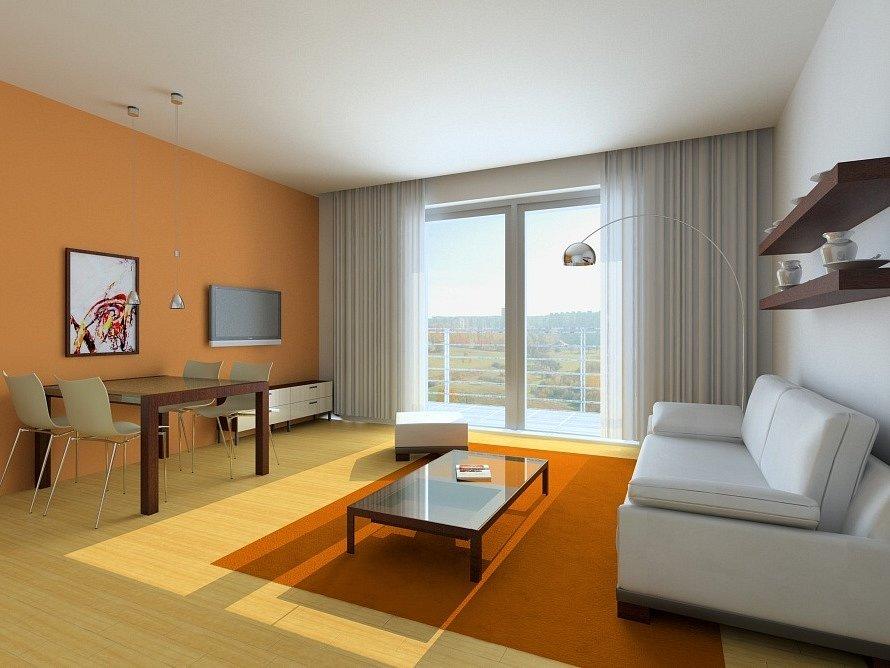 Počítačová animace jednoho z luxusních bytů v rezidenci Odeon.