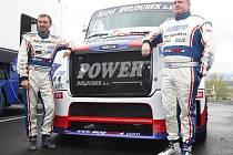 David Vršecký (vlevo) na mosteckém autodromu.