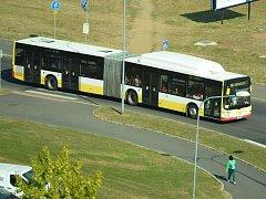 Autobus mostecké MHD.