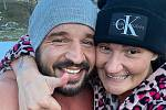 Petr Pastýřík a jeho přítelkyně Renata.