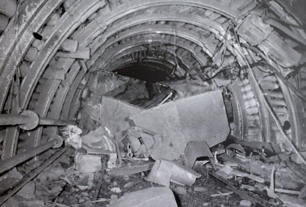 Důl Pluto u obce Louka u Litvínova po havárii.