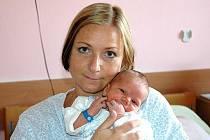 Mamince Evě Kašparové z Mostu se v ústecké porodnici 1. října v 8.50 hodin narodil syn Jakub. Měřil 53 centimetrů a vážil 3,92 kilogramu.