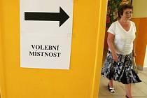 Eurovolby v Mostě. Volební účast byla velmi nízká.
