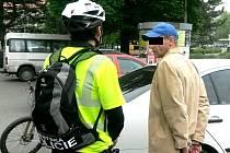 Muž zadržený v Mostě cyklohlídkou městské policie.