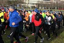 Jako každý rok vyrazili běžci na trať kolem vrchu Šibeník v centru města Mostu.