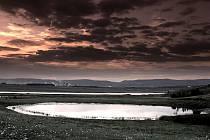 Jezero Most na archivním snímku
