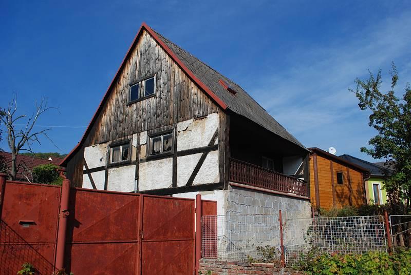 Litvínovský Chudeřín, hrázděný dům.