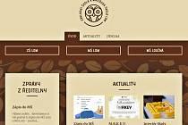 Část hlavní strany webu ZŠ a MŠ v Lomu